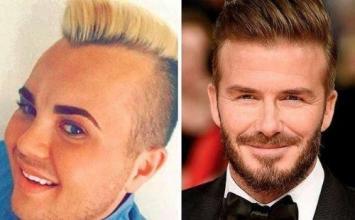 Invirtió millones para parecerse a David Beckham: así quedó