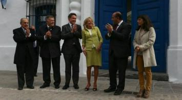 La segunda dama norteamericana disertó ante miles de docentes tucumanos
