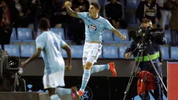 Un gol del tucumano Pablo Hernández condenó a Barcelona, que volvió a perder