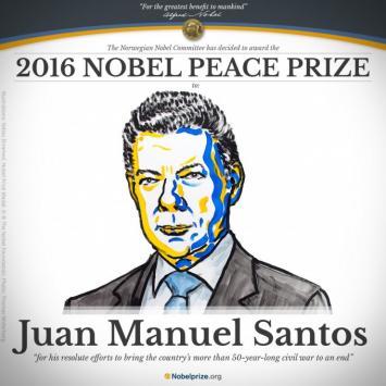 Juan Manuel Santos fue elegido Premio Nobel de la Paz 2016