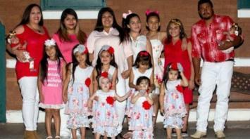 No se dan por vencidos: tienen 14 hijas y todavía sueñan con el varón