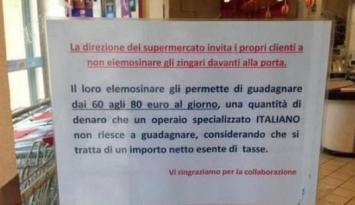 Preocupante mensaje racista de un supermercado contra los gitanos