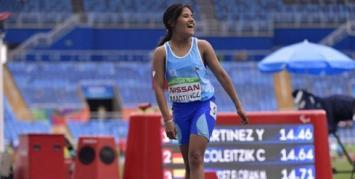 Yanina Martínez obtuvo la primera medalla de oro para Argentina en los Paralímpicos