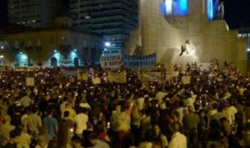 Multitudinaria marcha en Rosario en reclamo de seguridad