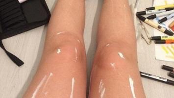 ¿Pintura o aceite?: ¿qué tienen las piernas que se viralizaron en el mundo