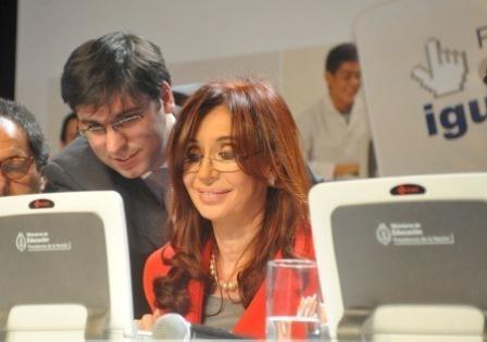 Diego Bossio y Cristina E. Fernández Wilhelm
