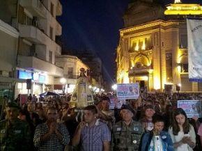 La plaza Independencia clamó justicia por el cura Viroche
