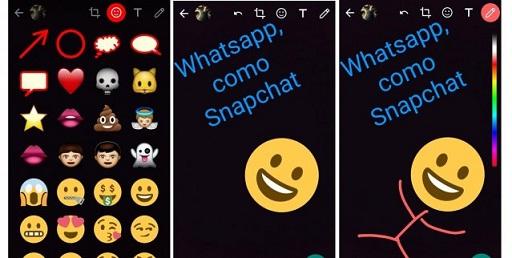 Nuevas funciones en WhatsApp: se podrá usar stickers y dibujos en las fotos