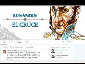 El Cruce de los Andes de San Martín, contado por él mismo en Twitter