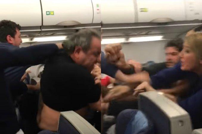 Una brutal pelea en un avión obligó a un aterrizaje forzoso