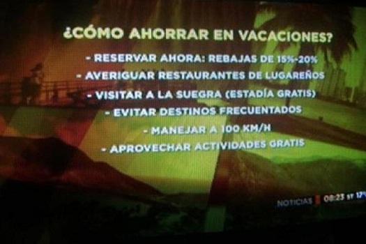 """La TV Pública recomienda """"visitar a la suegra"""" para ahorrar en vacaciones"""
