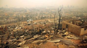 Santa Olga, el pueblo de Chile que quedó devastado por los incendios