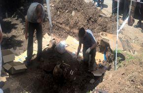 Tras el hallazgo de restos oseos en la ciudad de Tafí Viejo, trabaja personal de arqueología