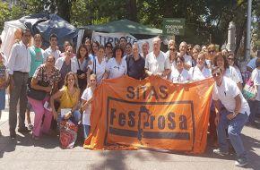 Con apoyo nacional SITAS movilizó a plaza Independencia