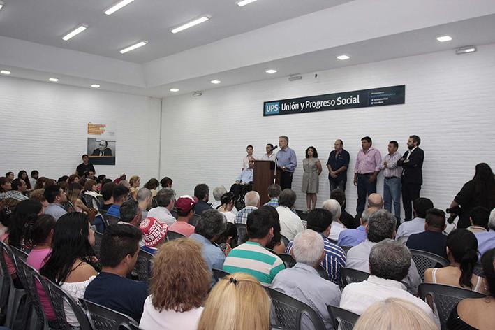 El Partido UPS (Unión y Progreso Social) inauguró su nueva y moderna sede
