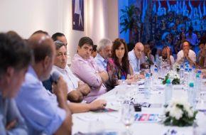 Cristina se reunió con con 50 representantes de pequeñas y medianas empresas