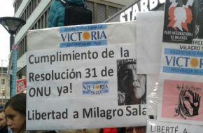 Día de la Mujer: en distintas partes del mundo, piden que liberen a Milagro Sala