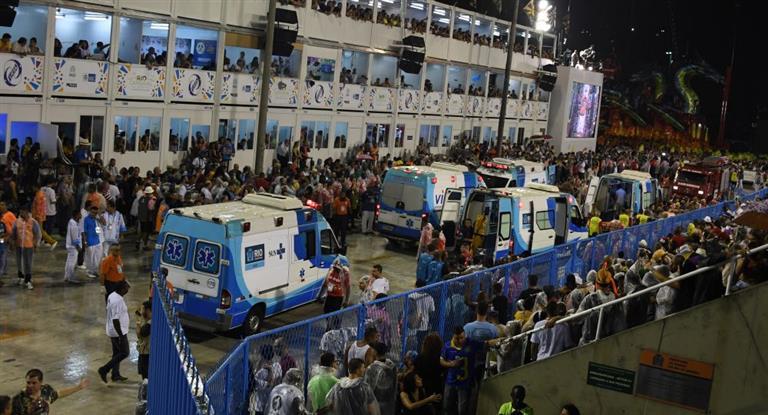 Corridas, pánico y al menos 20 heridos en el arranque del carnaval de Río