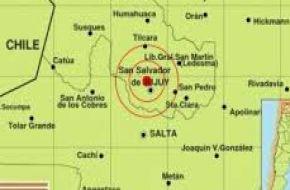 Un sismo de 6,7 grados sacudió esta mañana a Jujuy