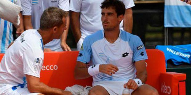 Copa Davis: Guido Pella no pudo con Fabio Fognini y la Argentina perdió la serie contra Italia
