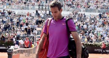 Del Potro no pudo con el poderío de Djokovic y se despidió de Roma