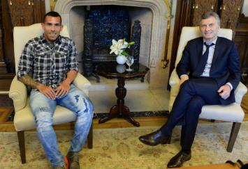 Tevez defendió a Macri, dijo que hay mucha agresividad contra él y que los insultos no son por un descontento social