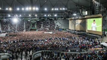 El festejo por la clasificación de Argentina en el recital de U2