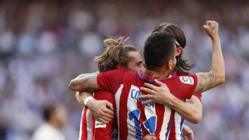 Atlético de Madrid amargó sobre el final al Real en el clásico madrileño (Video)