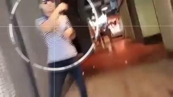 Un video inédito muestra cómo escapa el terrorista de Barcelona con total frialdad