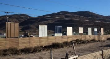 Trump comenzó a instalar prototipos de muros en la frontera con México