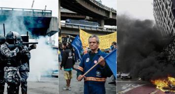 Huelga paralizó a Brasil con incidentes en varias ciudades
