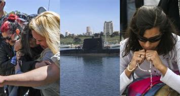Ante la angustiante espera de los familiares de los tripulantes, sigue la búsqueda del submarino