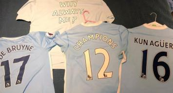 Agüero y Otamendi festejaron con el título de Manchester City