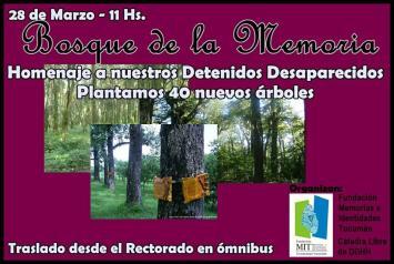 Se desarrollarán diversas actividades en el Bosque de La Memoria