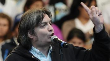 Máximo Kirchner acusó a Macri y a Peña de estar detrás de los incidentes