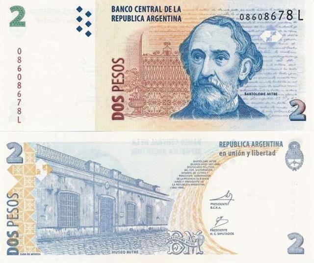 Chau al billete de 2 pesos