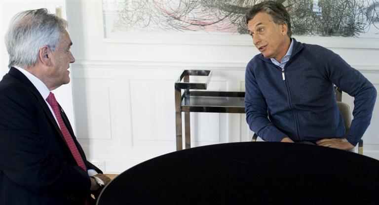 Macri aprovecha reasunción de Piñera en Chile para apurar acuerdo con la Alianza del Pacífico
