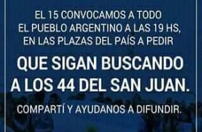 Familiares de los 44 del ARA San Juan llaman a manifestarse en plazas de todo el país