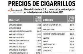 Nuevamente aumentó el precio de los cigarrillos