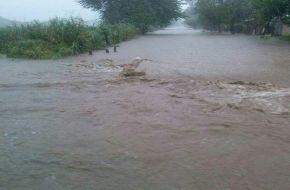 Las persistentes lluvias que se registran en la provincia no dan tregua al sur provincial