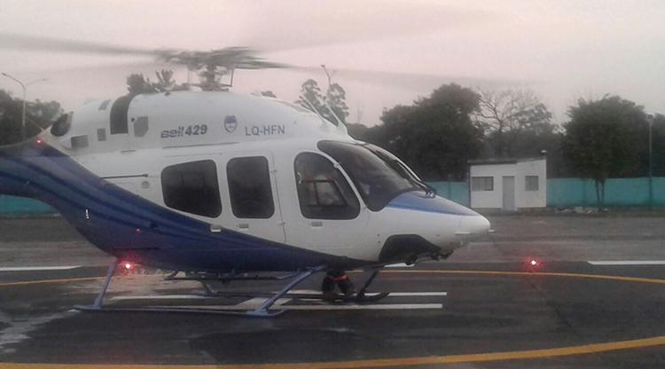 El nuevo helicóptero ya se encuentra en la provincia