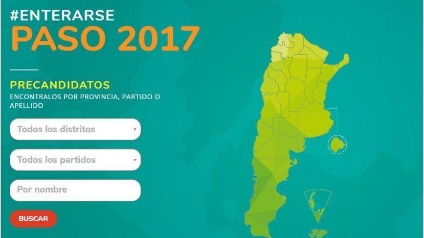Un portal te permite conocer todos los candidatos de las PASO, distrito por distrito