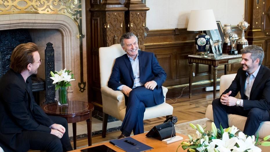 Bono le manifestó a Macri su preocupación por la desaparición de Maldonado