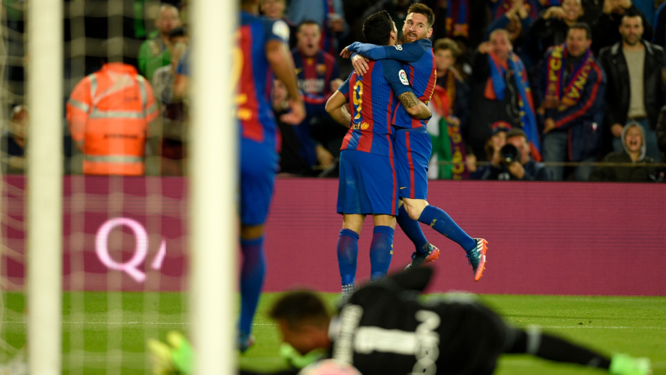 El Barça goleó 4 a 2 al Valencia en el Camp Nou