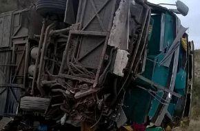 El micro del accidente en Mendoza no estaba habilitado para circular