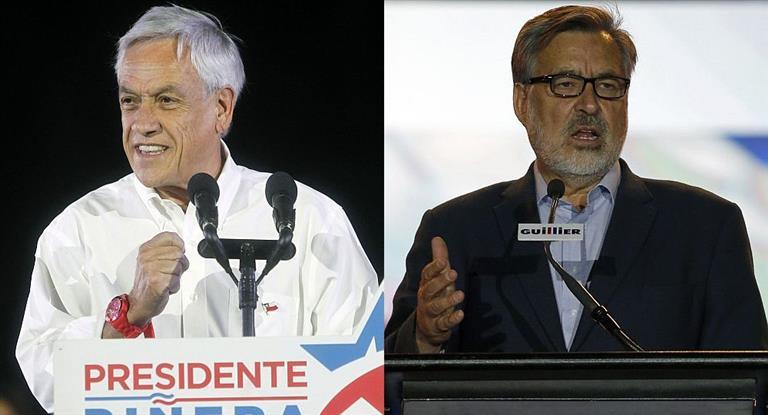 Piñera y Guillier cerraron sus campañas: las encuestas vaticinan un balotaje en Chile