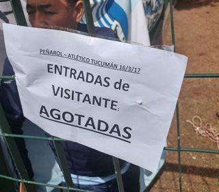 Se agotaron las localidades que Peñarol le destinó a los hinchas decanos