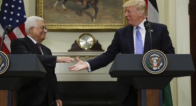 Palestina anunció que retomará el diálogo de paz con Israel bajo el auspicio de Trump