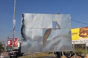 Destruyen carteles del Plan Belgrano en Formosa