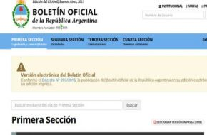 El Boletín Oficial se publicará sólo en versión digital